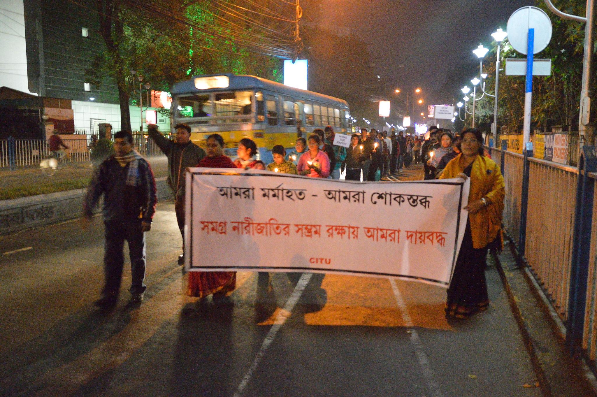 Silent Protest at Salt Lake City in Kolkata after Jyoti's death. Photo: Biswarup Ganguly
