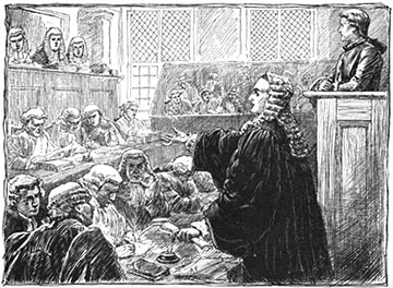 Andrew Hamilton defends John Peter Zenger
