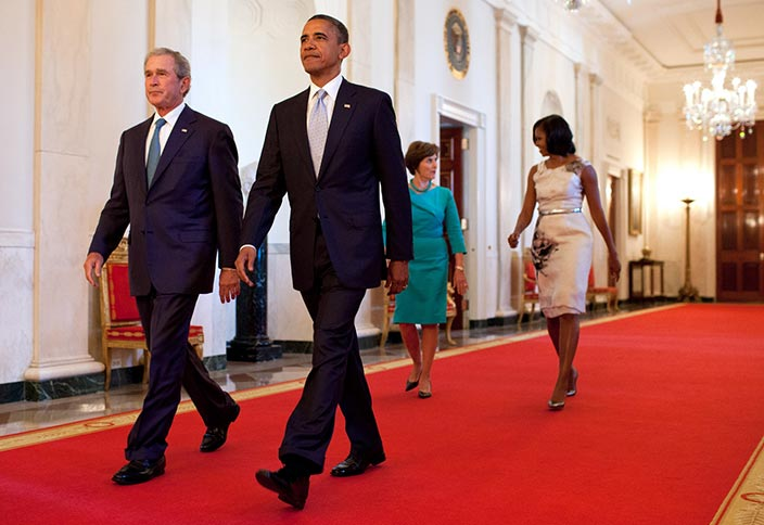 Bush and Obama Echo Concerns for America's Future, and a Return to Peaceful Dialogue