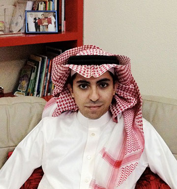 Raif Badawi, Saudi national, creator of the website Free Saudi Liberals, and recipient of the 2015 Sakharov Prize for Freedom of Thought
