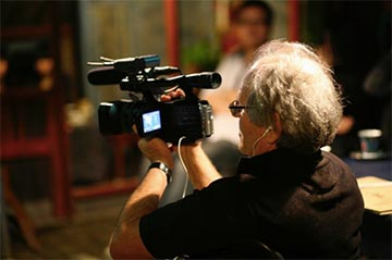 "Australian filmmaker Nick Torrens during the filming of ""China's 3Dreams."""