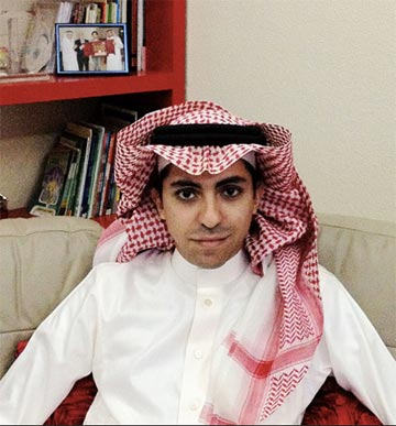 This photo of Badawi was circulated around the world after news of his arrest.
