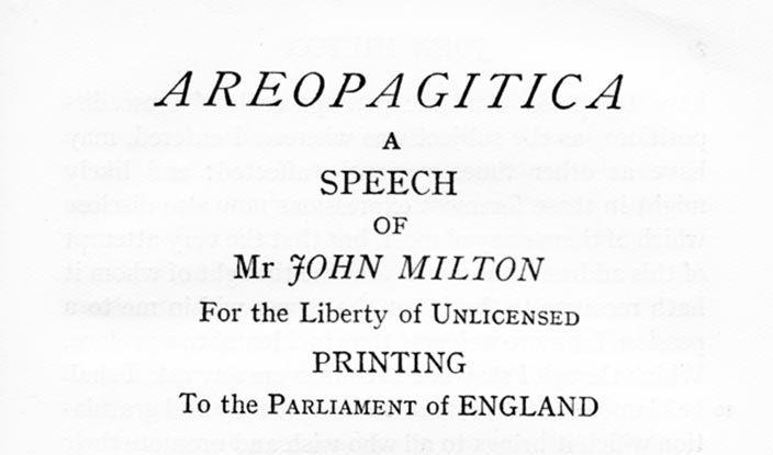 John Milton's Areopagitica