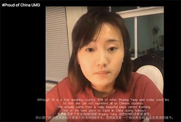 Fellow Chinese students took to YouTube to debunk Shuping Yang.
