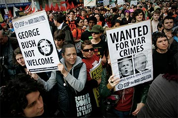 Anti-war sentiment for the Afghanistan and Iraq wars at home and abroad echoed protests seen during the Vietnam War.