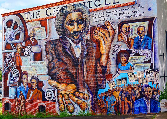 A mural in Winston-Salem honors the history of the Civil Rights movement. With 'voting rights' being debated nationally, the mural has taken on renewed significance.