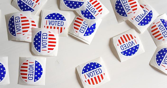 """I Voted"" stickers. Element5 Digital / Unsplash.com."